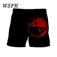 Shorts de punk pour hommes Hawaii Beach 3D décontractés Hip Hop Pantalons
