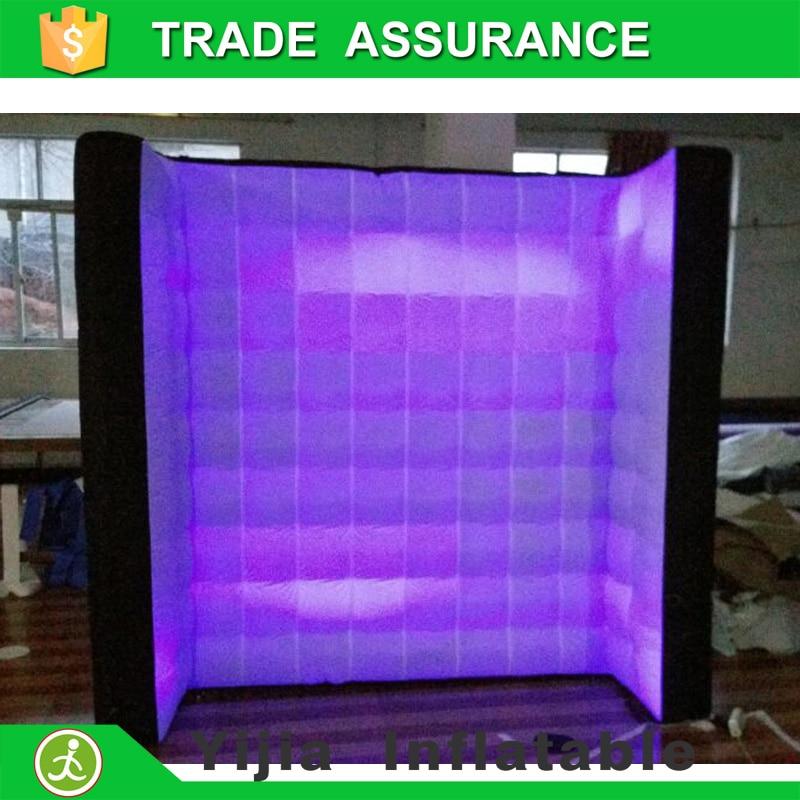 8ft черного на спине и белый фронтальной светодиодной надувные освещение стены для Photo Booth