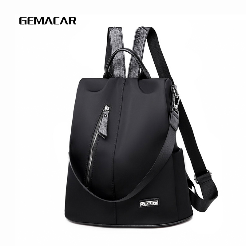 Women Anti-theft Backpack Waterproof Fabric Large Female Shoulder Bag Large Capacity Simple Style Casual Mochila Travel Bendy