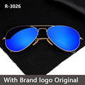 2017 gafas de Sol Polarizadas de Los Hombres de Lujo del Diseño de Marca de Conducción Gafas de Sol para Hombre Al Aire Libre Gafas de Sol Ray gafas de Aviador Caliente Ovalada lente