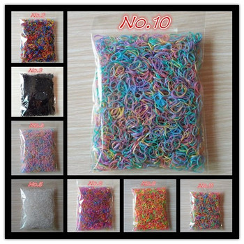 About 1000pcs/bag (small package) 2015 New Child Baby TPU Hair Holders Rubber Bands Elastics Girls Tie Gum Hair Accessories
