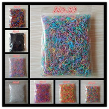 About 1000pcs/bag (small package) 2015 New Child Baby TPU Hair Holders Rubber Bands Elastics Girl's Tie Gum Hair Accessories(China)