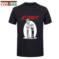 GET Schwifty UNISEX Womans MEN Funny Tee Rick And Morty Pre Cotton Short Sleeved Shirts Designer