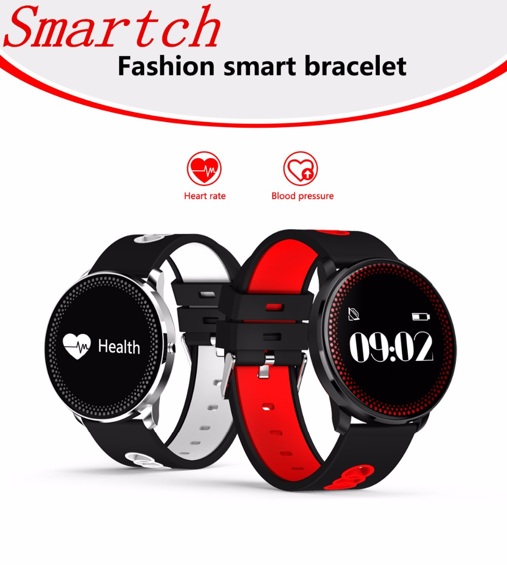 Smartch BT4.0 Fitness Smart Band Bracelet Waterproof Support Blood Pressure Heart Rate Monitor Wearable Wristband For Men Women