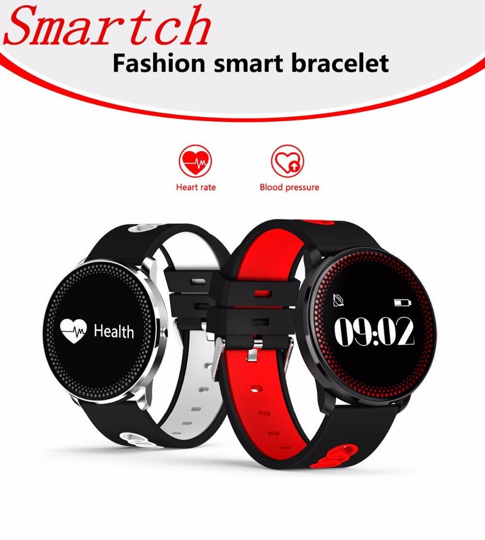 BT4.0 Smartch Aptidão Pulseira Banda Apoio À Prova D' Água Heart Rate Monitor de Pressão Arterial Inteligente Wearable Pulseira Para Mulheres Dos Homens