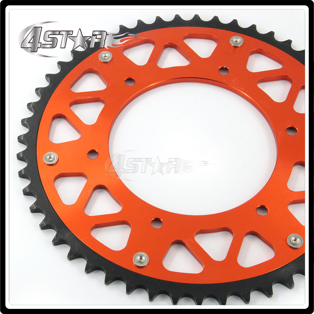 49T Rear Chain Sprocket For KTM EXC MX SX XC MXC EXCF SXF XCF XCW LC4 SC 125 150 200 250 300 350 400 450 620 Enduro Motocross