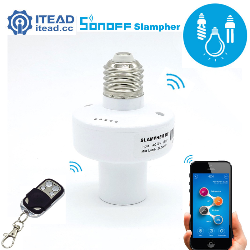 ITEAD Sonoff Slampher - Led Bulb E27 Holder 433MHz RF Wireless WiFi Light Lamp For Smart Home Improve IOS Android