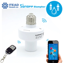 ITEAD Sonoff Slampher – Led Bulb E27 Holder 433MHz RF Wireless WiFi Light Lamp For Smart Home Improve IOS Android