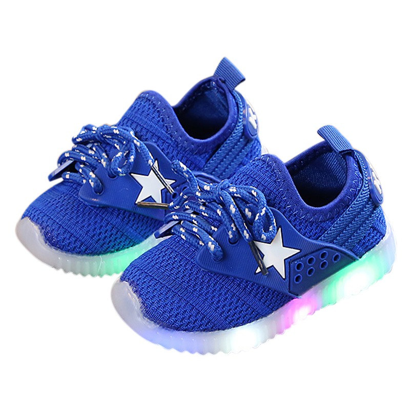 Children Boys Casual Shoes Lighted Baby 3 Colors  Girls Soft Sole Shallow