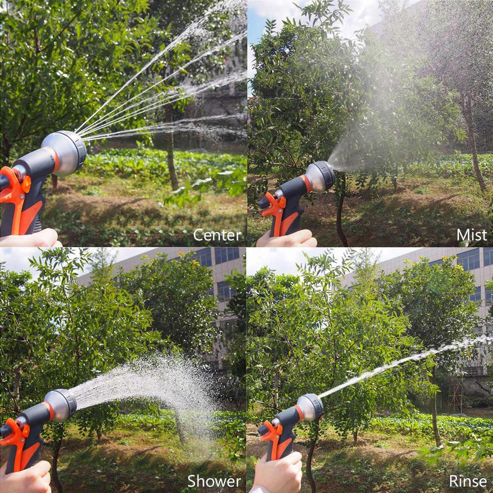 Dysze węża ogrodowego 4/7/8 wzór pistolet na wodę końcówka zraszająca do węża do mycia samochodu czyszczenie podlewanie trawnik i ogród posypać Pet shower