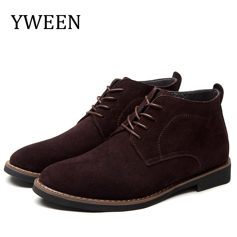 YWEEN Brand Faux Suede Leather Men's