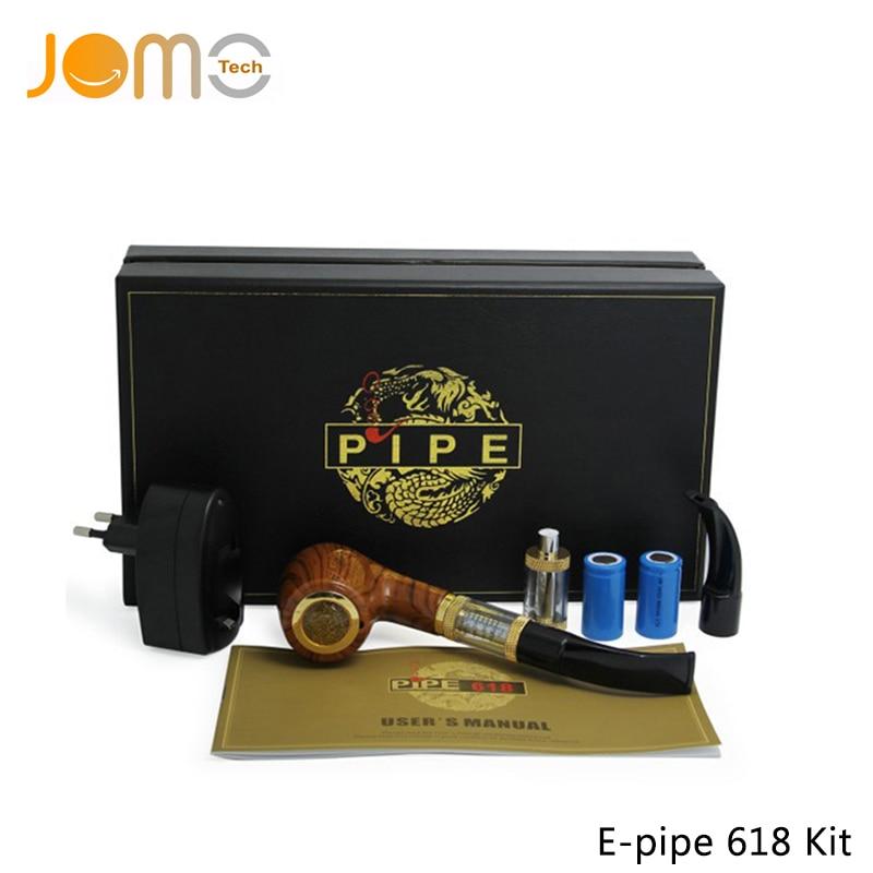 Top Quality E-pipe 618 Vape Mod Pipe Electronic Cigarette Dual 900mAh Wooden Pipe Mod Rechargeable E Pipe VS K1000 Plus Jomo-223