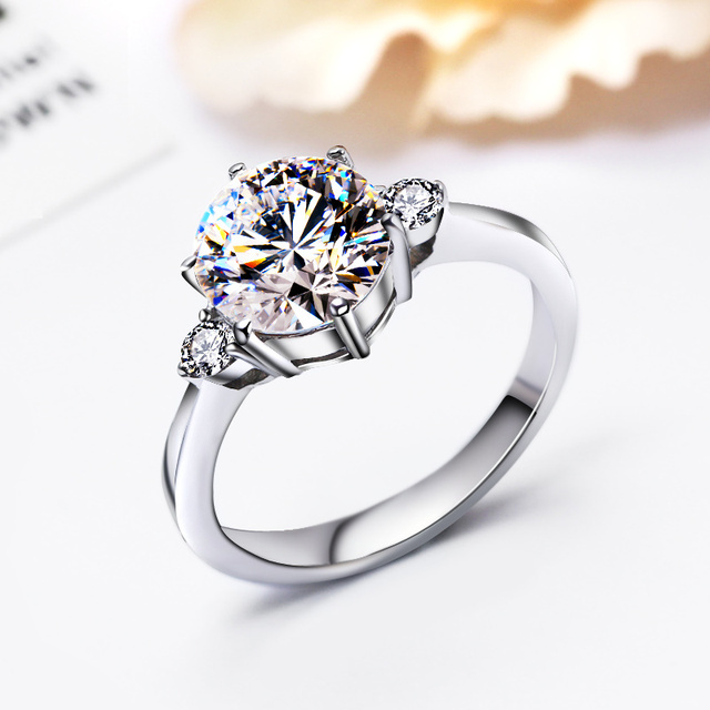 Small Thin Band Low Price Classic Propose Ring High Grade AAA Cubic Zirconia