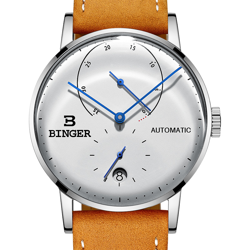 Switzerland BINGER Men Watch Luxury Brand Automatic Mechanical Mens Watches Sapphire Male Japan Movement reloj hombre B-1187-14 цена
