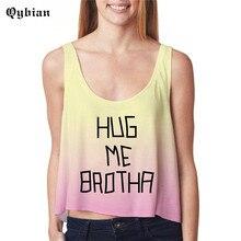 Qybian Summer Sexy Women Crop Tops letter printed Comfortable short vest Ladies Tank Tops women Camis