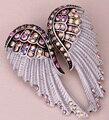 Asas de anjo broche pin pingente mulheres presente da jóia motociclista W BD03 antique gold & silver plated cristal dropshipping por atacado