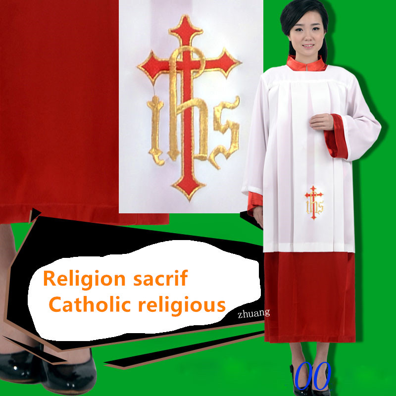 Euroopa standard Kvaliteetne Vatikani kiriku rituaalne hommikumantel Kleit jumalateenistuse tseremooniale Katoliku kiriku ohverdamine kleitköis