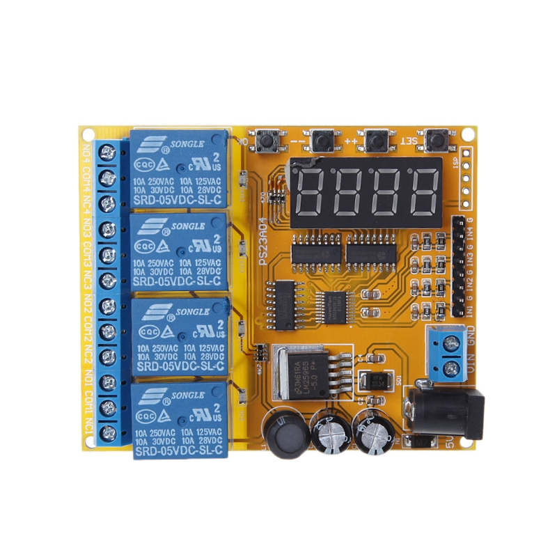 4 Channel Multifunctional Voltage Control Relay Lithium Car Battery Charging multifunctional screw hopper loader relay