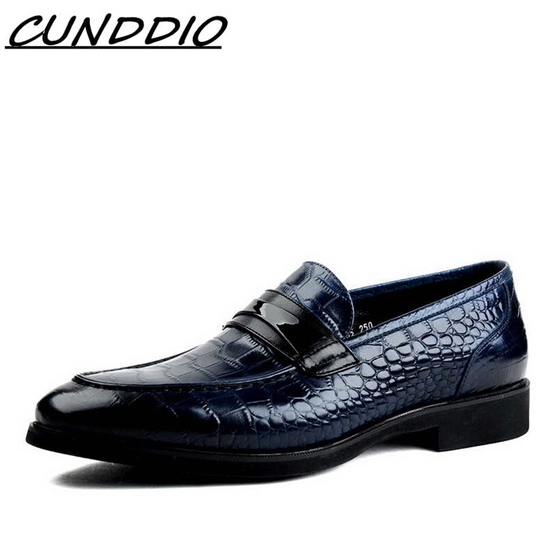 The new point Business suite The crocodile lines Cowhide The British Isles Breathable wedding shoes Black Brown Blue 6-1 oracle e business suite