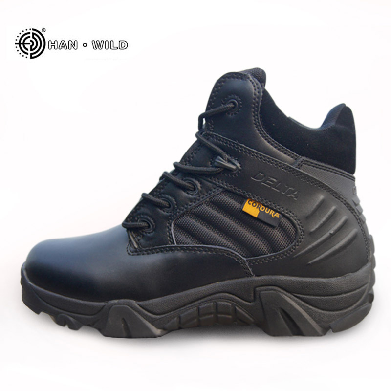 Summer Military Tactical Boots Men High Quality Round Toe Desert Combat Ankle Boots Autumn Mens Leather Army Shoes