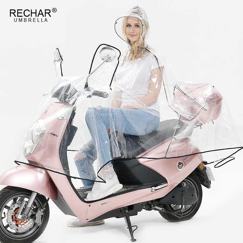 Прозрачный ЭВА-пластик водонепроницаемый полиэстер материал для женщин и мужчин велосипед мотоцикл двойной плащ непромокаемый плащ пончо дождевик