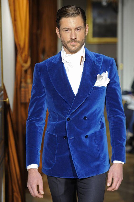 Королевский синий мужской костюм свадебный классический пиджак Свадебный двубортный приталенный мужской блейзер смокинг костюм для Сваде