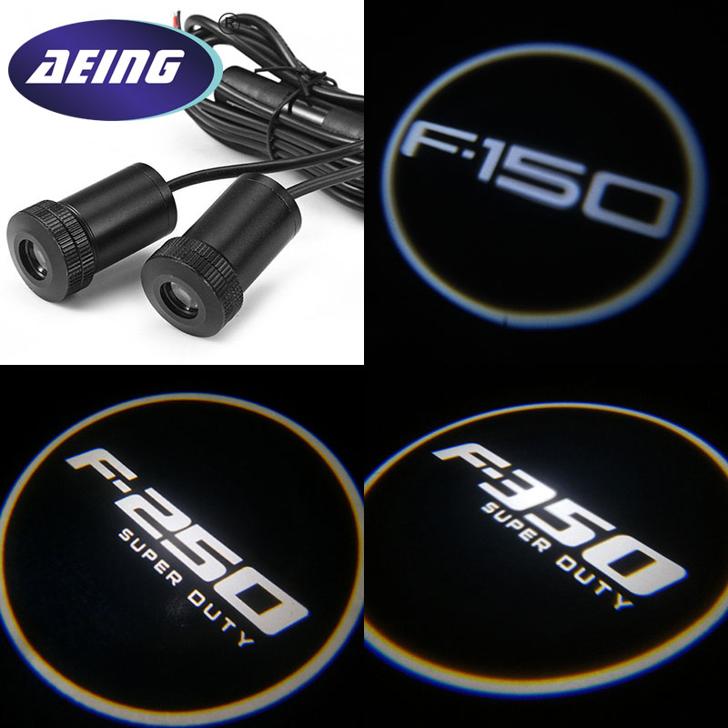 AEING 2* Ghost Shadow Logo welcome Car LED Door Light Laser Courtesy Slide Projector light For Ford F150/F250/F350 Super Outy