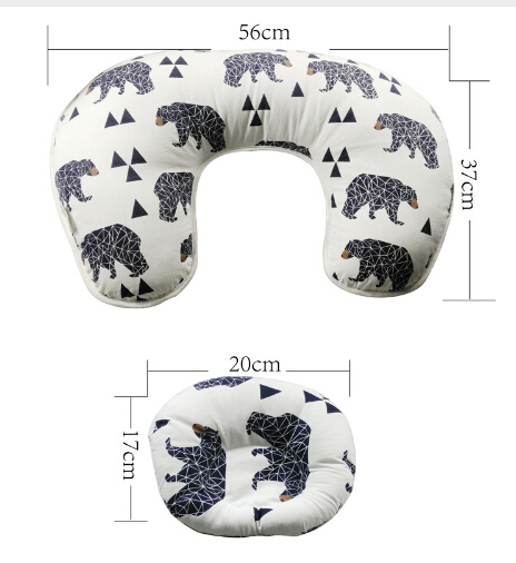 2-in-1-Multifunctional-U-Shaped-Maternity-Cotton-Nursing-and-Breastfeeding-Pillow-Cover-Slip