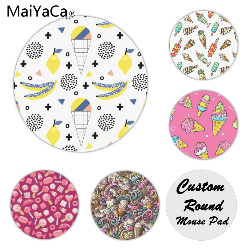 MaiYaCa Non Slip PC Cone Customized laptop Gaming mouse pad Size for 200x200x2mm and 220x220x2mm Round Mousemats