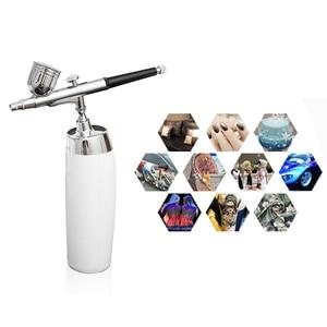 Image 1 - Airbrush kompresör Küçük sprey pompası Kalem Seti Airbrush makyaj hava tabancası Kiti Sanatı Boyama Dövme Zanaat Kek Sprey Modeli