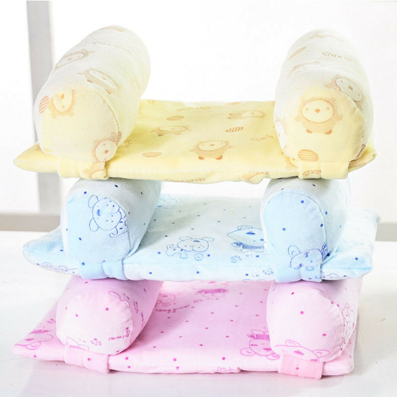 babycare adjustable baby pillow with memory foam support and anti roll sleep positioner