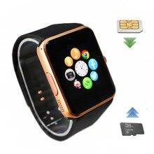 Gt08 smart watch reloj de sincronización de notifier apoyo sim tf smartwatch bluetooth conectividad cámara reloj inteligente usable dispositivos