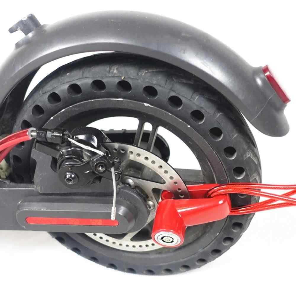 Roues de frein à disque antivol avec fil d'acier pour accessoires de planche à roulettes de Scooter électrique Xiaomi Mijia M365