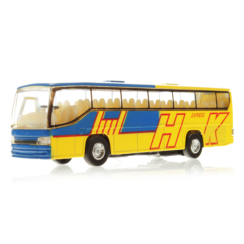free shipping Toy car alloy bus bus model of tourist bus