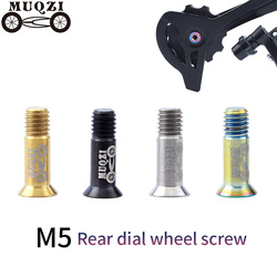 MUQZI 2 sztuk Mountain Highway Fold rowerów stopu tytanu napięcie koła śruba późno koło prowadnicy przerzutka tylna śruba|Przerzutki rowerowe|Sport i rozrywka -