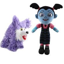 Junior Vampirina Plush Toys Reborn Dolls Movie Cartoon Vamp Wolfie Dogs Peluche Doll 2018 New Kids Girls Cosplay Gift 2pcs/lot(China)
