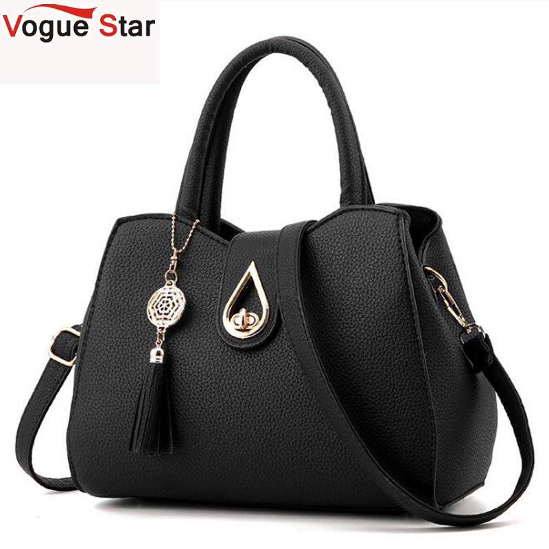 New Fashion Women Handbag Tassel High Quality PU Leather Totes Bags Brief Women Shoulder Bag Ladies Bags LB752