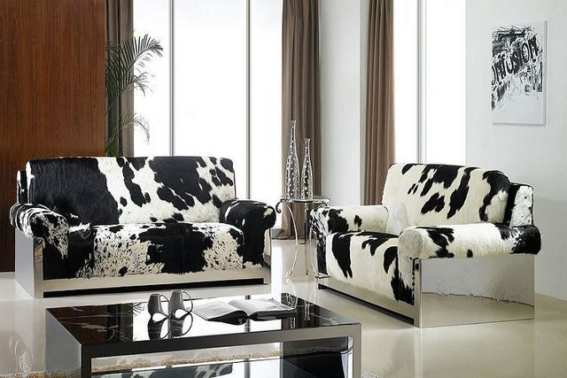 luxury sofa stainless steel sofa nature cow leather cowhair sofa rh aliexpress com