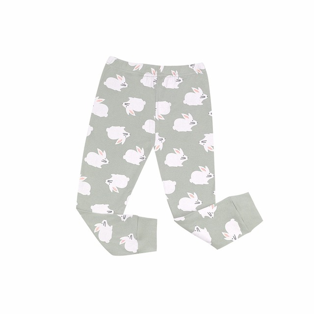 Some Bunny's Ready for Bed Printed Pajama Set for Girls