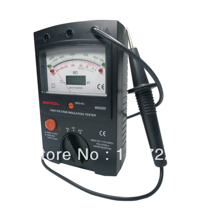 Wholesale & retail , 100000Mohm , Analog Insulation Tester MS5202,2500V VOLTAGE