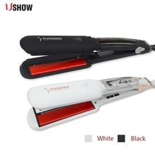 USHOW инфракрасный пара Выпрямитель для волос Профессиональный Керамика ионные выпрямление железа Vapor пластины утюги