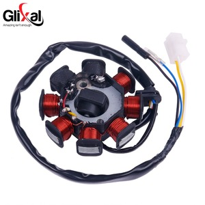 Image 3 - Glixal GY6 49cc 50cc 8 coil Magneto Alternator Stator for 139QMB 139QMA Chinese Scooter Moped Engine (Dual Ignition Coils)