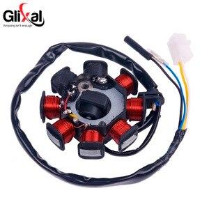 Image 3 - Glixal Stator dalternateur magnétique GY6 49cc 50cc, 8 bobines pour moteur de cyclomoteur chinois 139QMB 139QMA (bobines à double allumage)