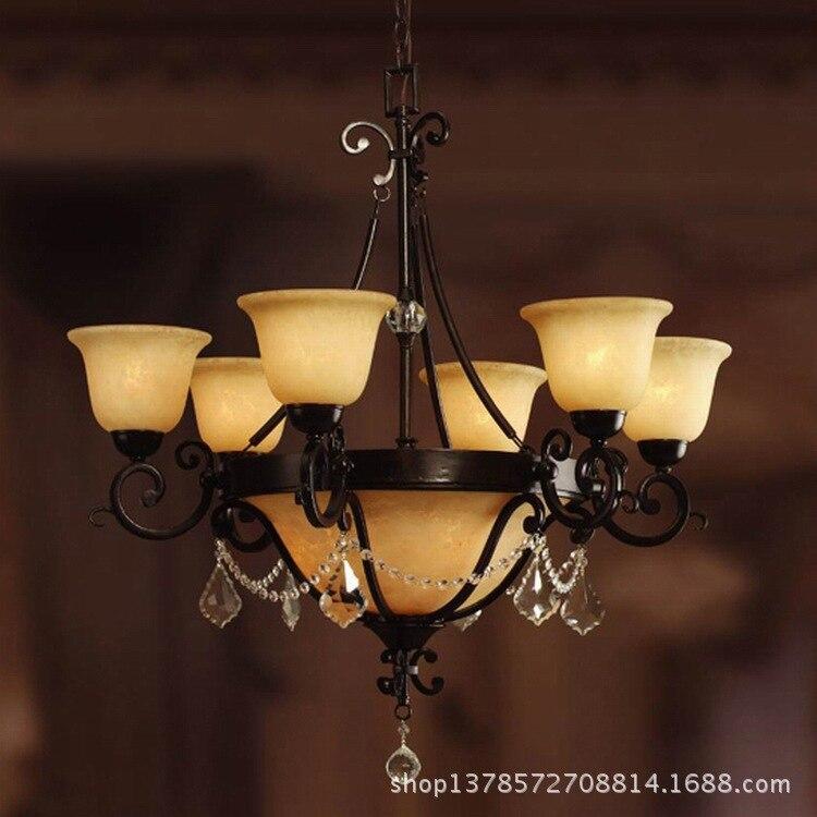 US $299.2  Ferro lampadario tre camere ristorante lampadario camera da  letto lampade Nordic minimalista nero desire classica illuminazione  lampadario ...