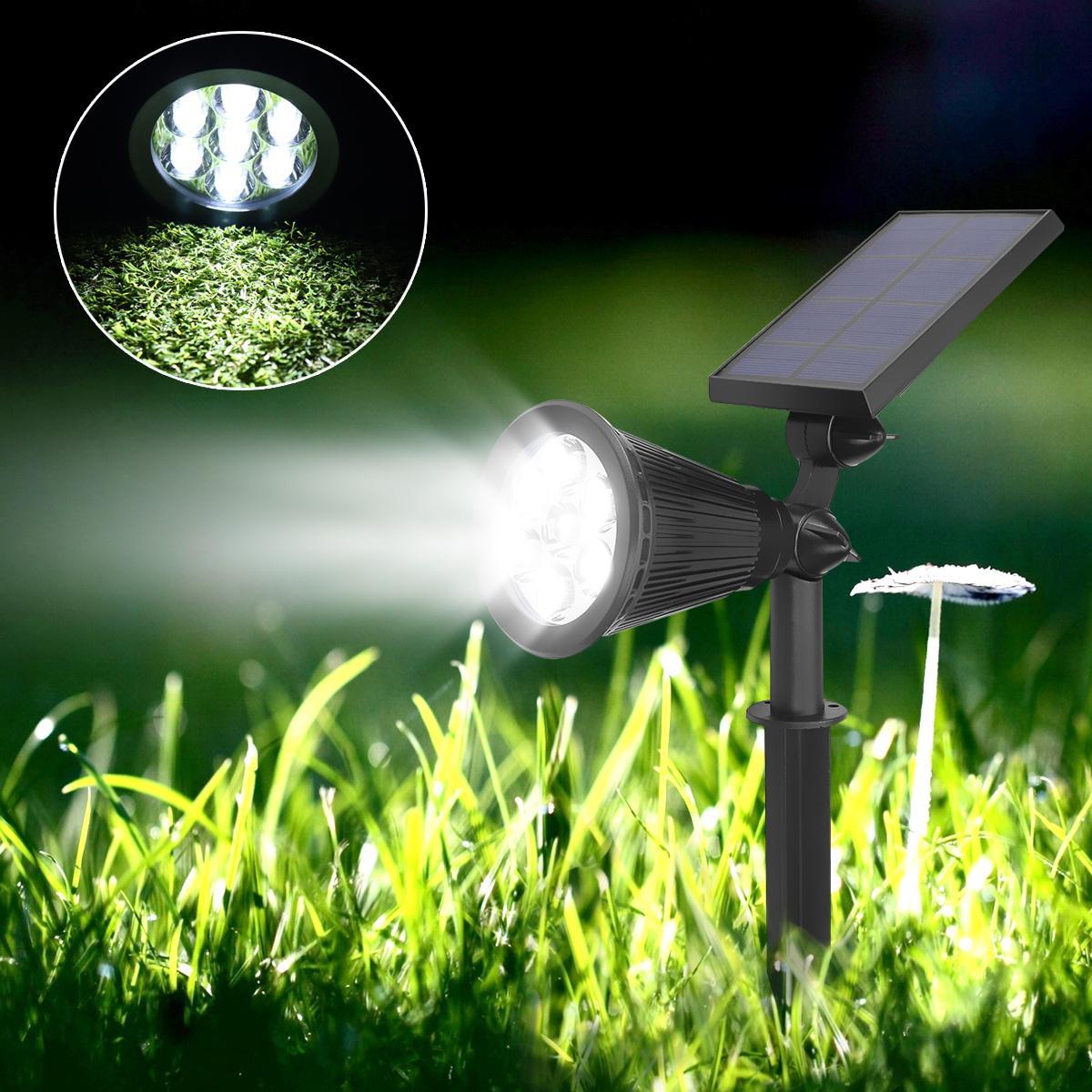 Waterproof Light Sensor Solar Powered 7 LED Solar Light Garden Lamp Spot Light Outdoor Lawn Landscape White Light