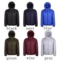 2019 New Plus 9XL 10XL 11XL Down Coat Male Large Size 90% Ultra Light Down Jacket Men Lightweigh Warm Coat Hooded Feather Parka