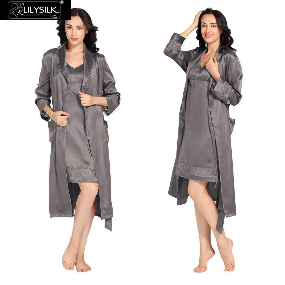 1000-dark-gray-22-momme-luxury-lacey-silk-nightgown-&-dressing-gown-set