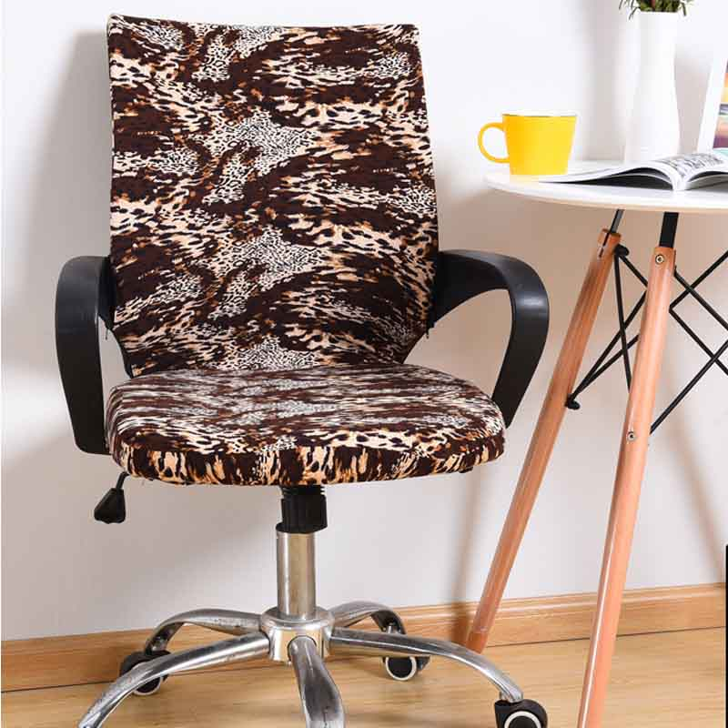 Meijuner Office Computer Chair Covers Spandex Chair Covers Office Anti dust Universal Black Leopard Blue Armchair Cover MJ045 in Chair Cover from Home Garden