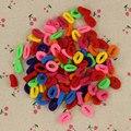 200 Pcs Colorido Criança Crianças Acessórios Titulares de Cabelo Faixa de Cabelo Elásticos de Borracha Bonito Das Mulheres Da Menina Encantos Tie Gum