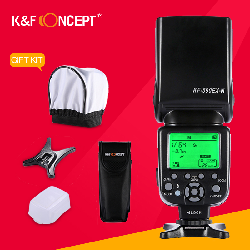 K&F CONCEPT KF590EX-N Wireless TTL Slave Flash Speedlite HSS S1/S2 TTL Light Flashing+Flash Diffuser For Nikon DSLR PK Yongnuo литой диск replica legeartis concept ns512 6 5x16 5x114 3 et40 d66 1 bkf